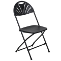 Rental store for FOLDING CHAIR BLACK FAN BACK in Grand Rapids MI